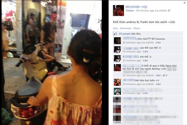 Andrea xác nhận bị Yanbi đánh ngay giữa phố Hàng Trống 1