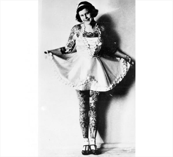 Những bức hình hiếm về hình xăm trên cơ thể phụ nữ thế kỷ 19 4