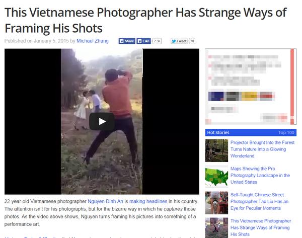 """""""Phó nháy"""" Việt Nam vừa nhảy vừa chụp ảnh cưới tiếp tục gây sốt trên blog nước ngoài 1"""