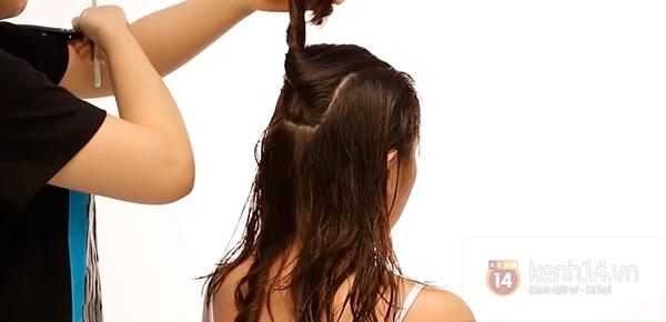 Vừa sấy khô vừa tạo kiểu tóc xoăn bồng bềnh trong 5' 6