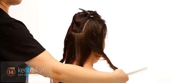 Vừa sấy khô vừa tạo kiểu tóc xoăn bồng bềnh trong 5' 7