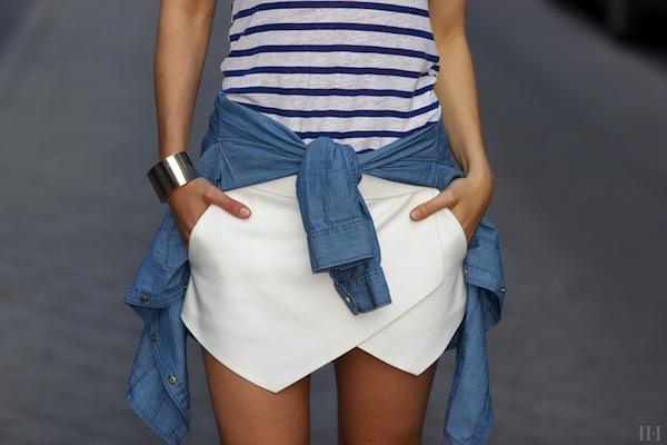 """Skort - Chiếc quần """"tràn ngập"""" street style thế giới Hè 2013 23"""