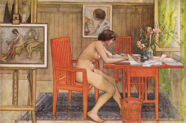Tình yêu gia đình trong tranh họa sĩ được yêu thích nhất của Thụy Điển 10