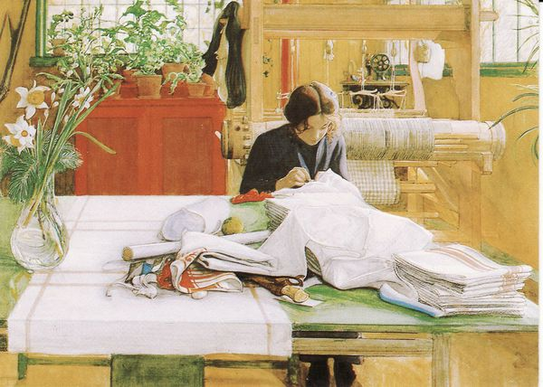 Tình yêu gia đình trong tranh họa sĩ được yêu thích nhất của Thụy Điển 2