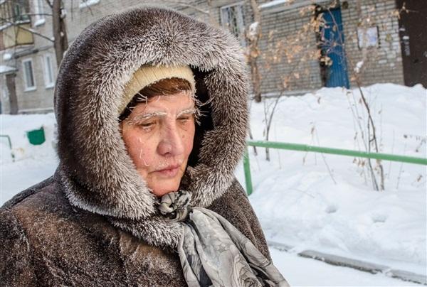 Những hình ảnh đáng sợ về giá lạnh bất thường tại Nga 2