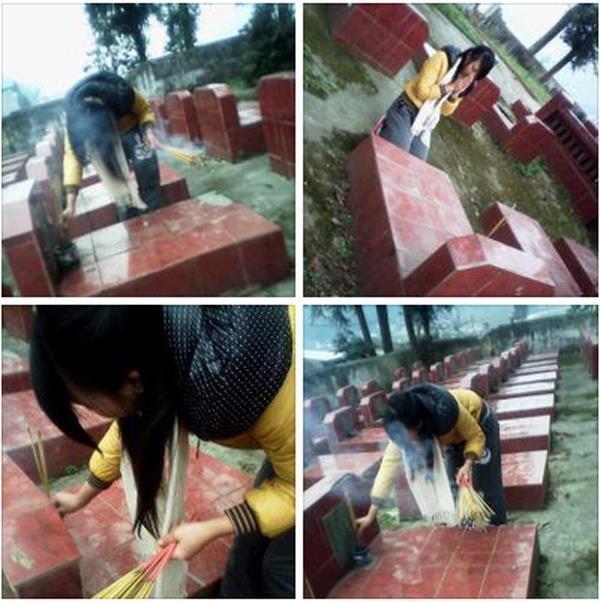 Thiếu nữ ngồi trên mộ liệt sĩ post ảnh hối lỗi lên facebook 2