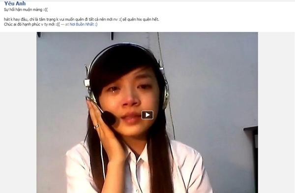 Cô gái xinh xắn vừa khóc vừa hát tặng người yêu cũ 1
