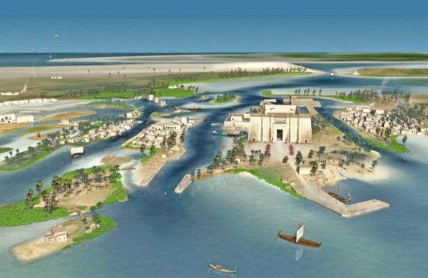 """Tái tạo """"thành phố Atlantis Ai Cập"""" bị nhấn chìm từ 1.200 năm trước 1"""