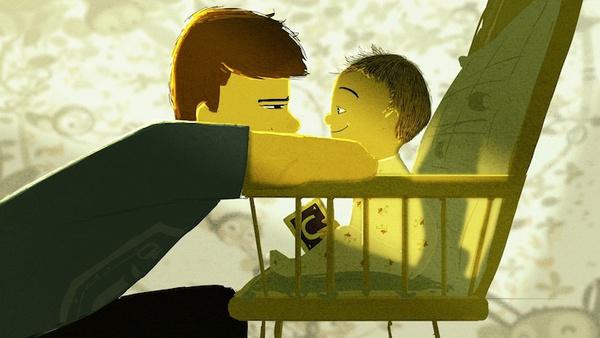 Thông điệp cảm động về gia đình qua tranh vẽ 1