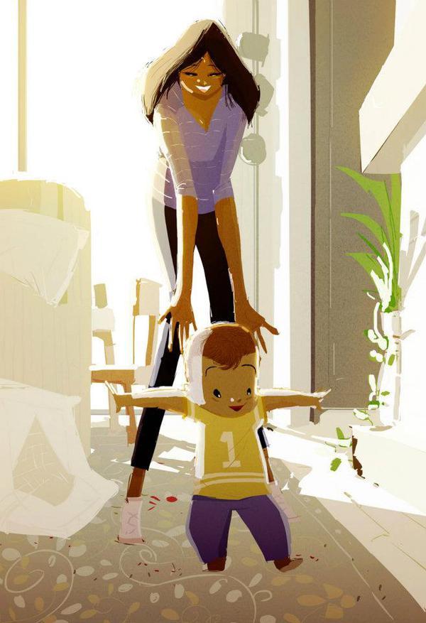 Thông điệp cảm động về gia đình qua tranh vẽ 10