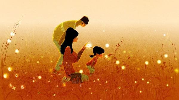 Thông điệp cảm động về gia đình qua tranh vẽ 4