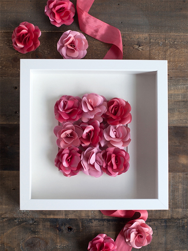 Ý tưởng làm tranh hoa hồng giấy đi tỏ tình lãng mạn 9