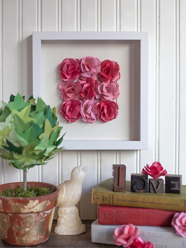Ý tưởng làm tranh hoa hồng giấy đi tỏ tình lãng mạn 10