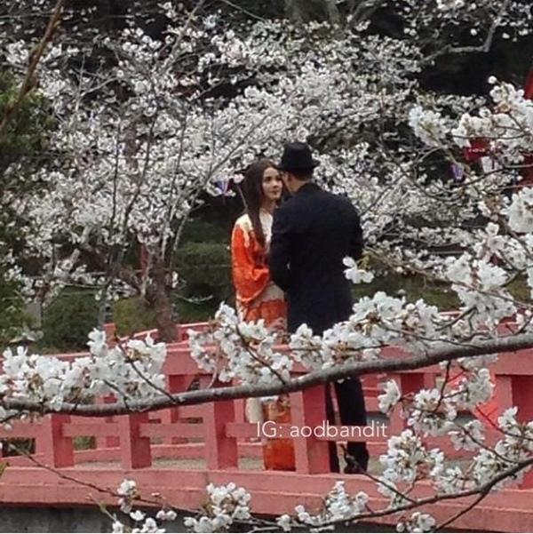 """""""Couple"""" đẹp nhất màn ảnh Thái tình tứ tại Nhật 5"""