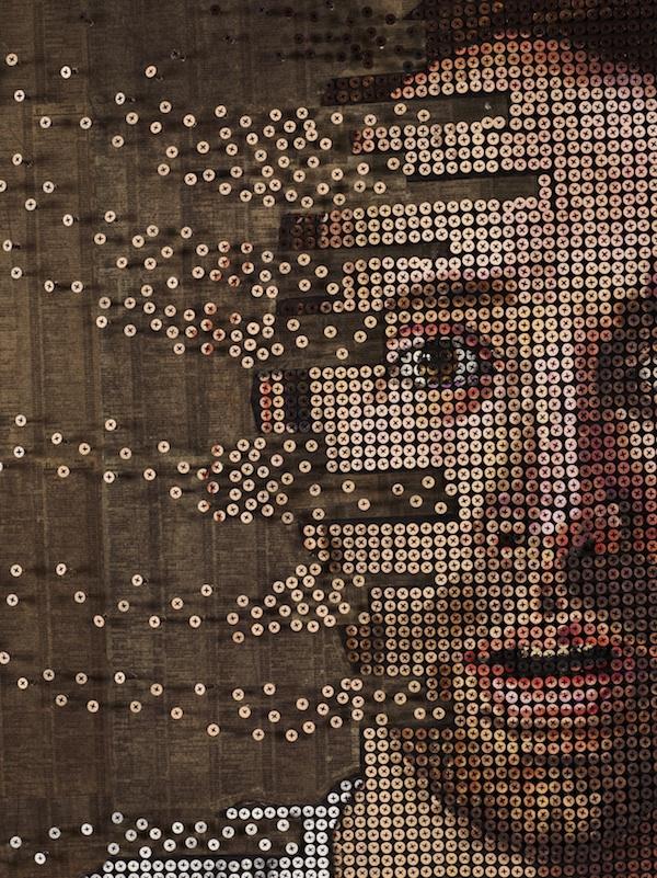 Tròn mắt với những bức chân dung và tác phẩm nghệ thuật được làm từ ốc vít 1