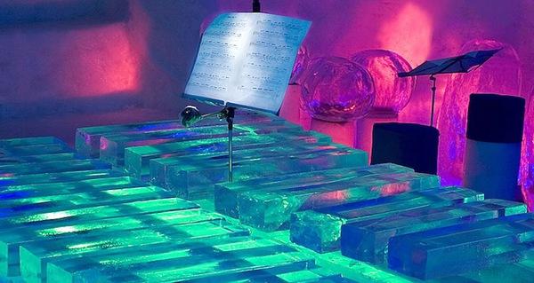 Thưởng thức âm nhạc với những nhạc cụ băng giá tại Thụy Điển 5