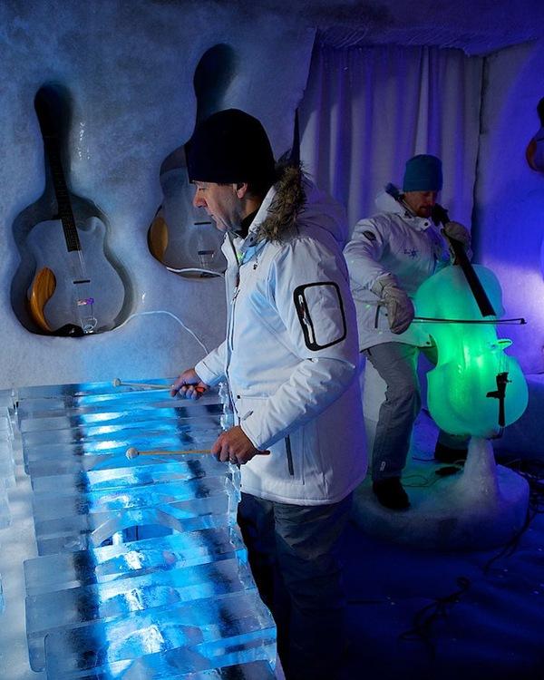Thưởng thức âm nhạc với những nhạc cụ băng giá tại Thụy Điển 8
