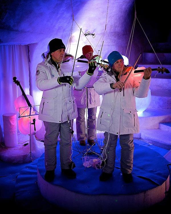 Thưởng thức âm nhạc với những nhạc cụ băng giá tại Thụy Điển 9