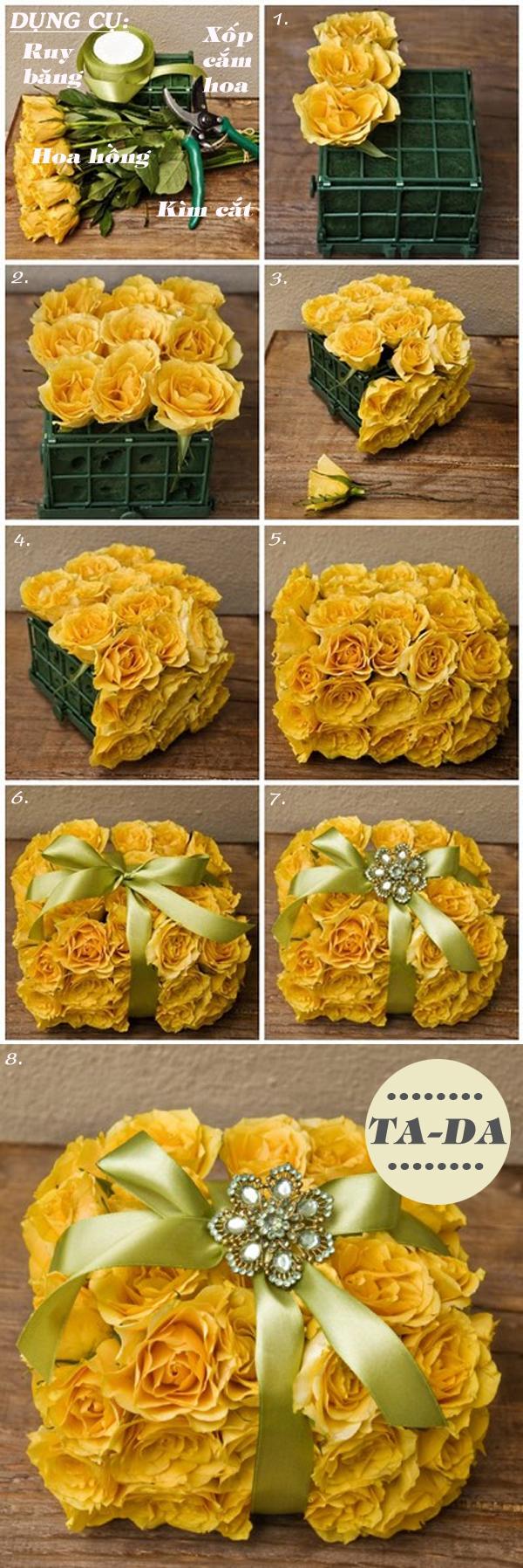 3 cách cắm hoa hồng cho bạn vụng về 1