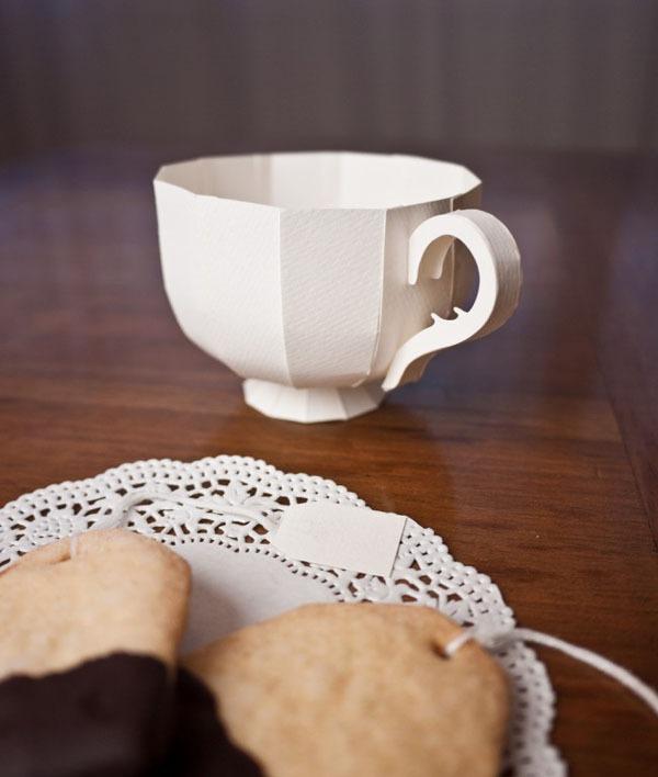 Khéo léo cắt dán hộp đựng hình tách trà 10