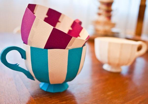 Khéo léo cắt dán hộp đựng hình tách trà 13