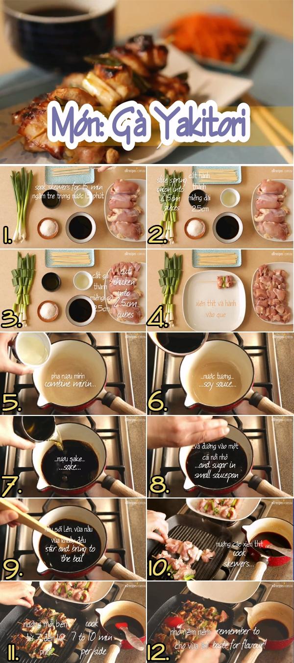 Gà nướng Yakitori với sốt thơm ngon dễ làm 1