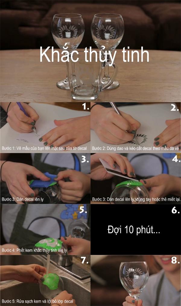 Học cách khắc hình lên ly thủy tinh 1