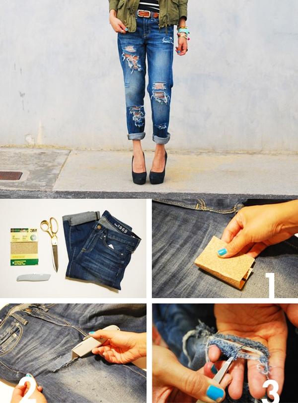 7 cách đơn giản biến hóa cho chiếc quần jeans cũ 4