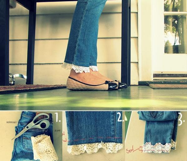7 cách đơn giản biến hóa cho chiếc quần jeans cũ 6