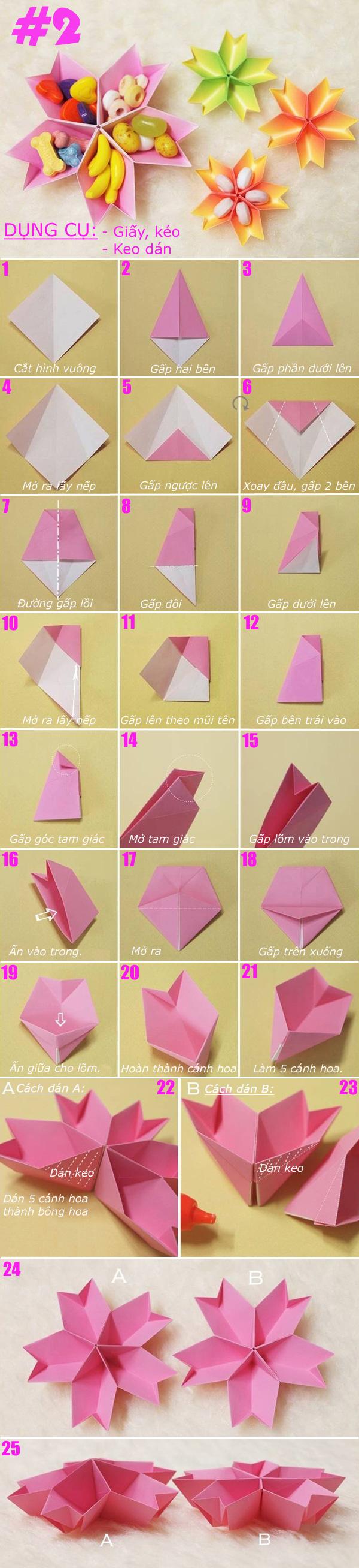 Gấp giấy thành đủ kiểu hộp đựng đồ hữu ích 2