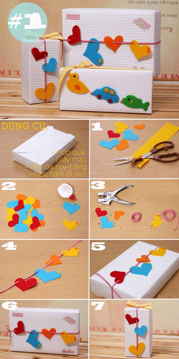 4 kiểu trang trí hộp quà sáng tạo dễ làm 1