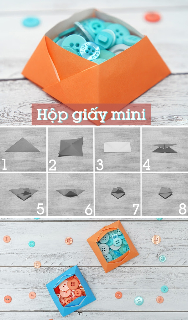 3 cách gấp hộp giấy origami nhanh và đẹp 1
