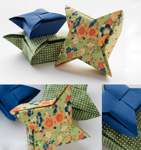 3 cách gấp hộp giấy origami nhanh và đẹp 3