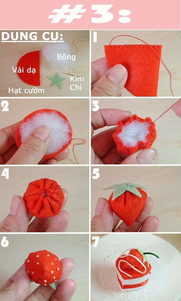 Hướng dẫn cách khâu những đồ trang trí cơ bản bằng vải dạ 3