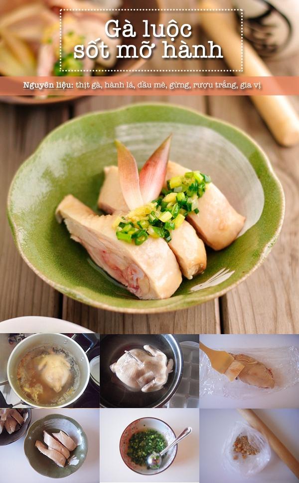 Menu gà luộc - củ cải muối vừa ngon miệng vừa đẹp mắt 1