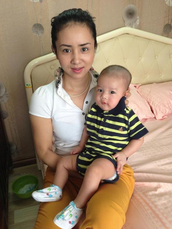 Thúy Hiền khoe ảnh con trai 3 tháng tuổi của Thúy Vinh 1