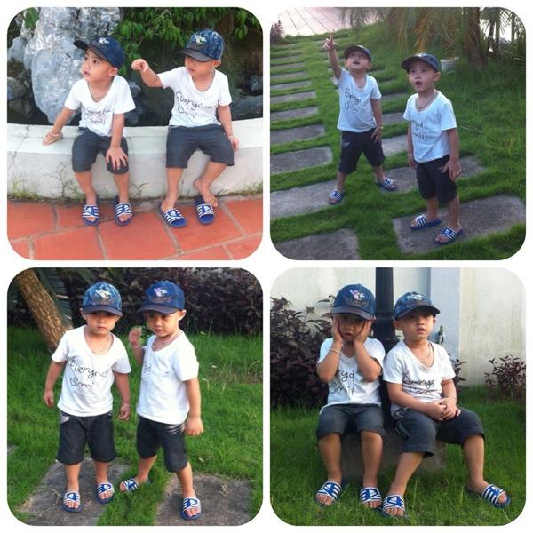 Minh Vương (M4U) khoe 2 con trai nuôi song sinh 8