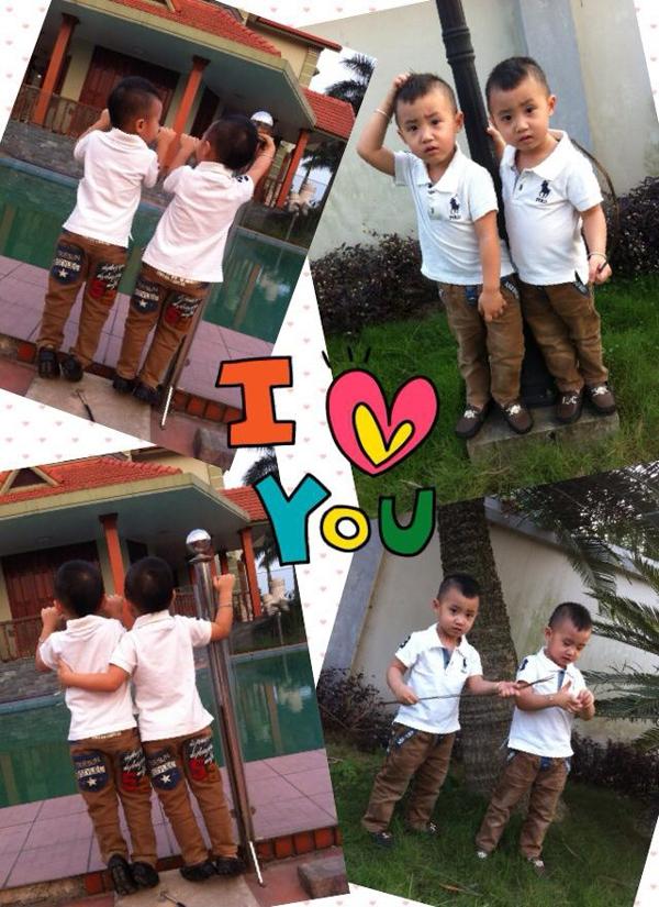 Minh Vương (M4U) khoe 2 con trai nuôi song sinh 18