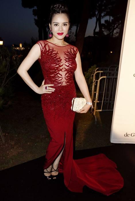 Lý Nhã Kỳ dự tiệc cùng Paris Hilton, Sharon Stone tại Cannes 3