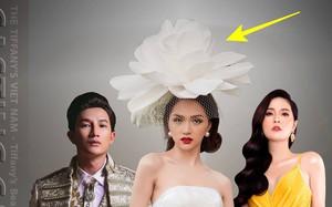 Hương Giang đội hoa như bà hoàng trên poster The Tiffany's Vietnam nhưng người ta lại thấy lỗi photoshop to đùng