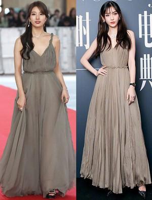 Sửa váy giống Angela Baby, Suzy lại đưa ra câu hỏi khó: Gầy hay béo mới giúp bạn đạt đến cảnh giới mặc đẹp?