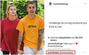 """Người ta thách nhau """"tag người mình nghĩ cute vào đây"""" và người mà Justin Bieber tag chính là…"""