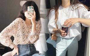 Mùa Thu đến là nhất định phải sắm áo blouse dài tay, nàng nào diện lên cũng xinh