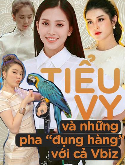 """Hoa hậu Tiểu Vy và những pha """"đụng hàng"""" với cả showbiz Việt"""