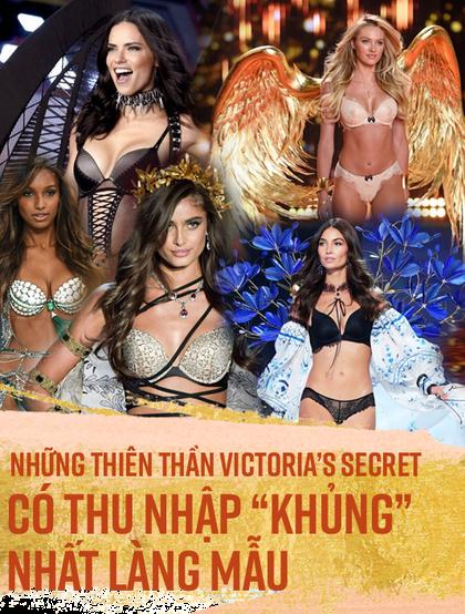 """Những thiên thần Victoria's Secret có thu nhập """"khủng"""" nhất làng mẫu"""