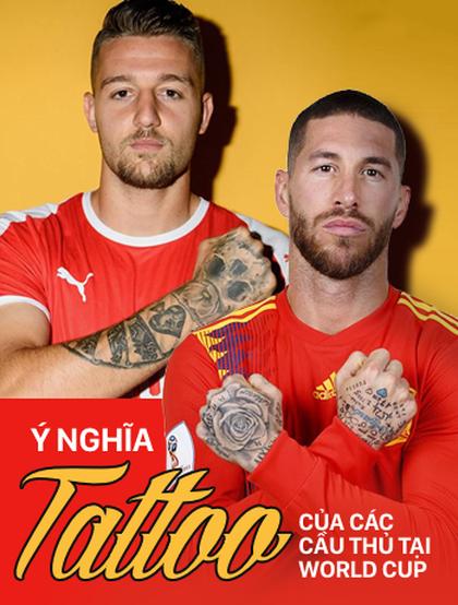 """Ý nghĩa đằng sau những hình xăm """"kín tay"""" của các cầu thủ dự World Cup 2018"""