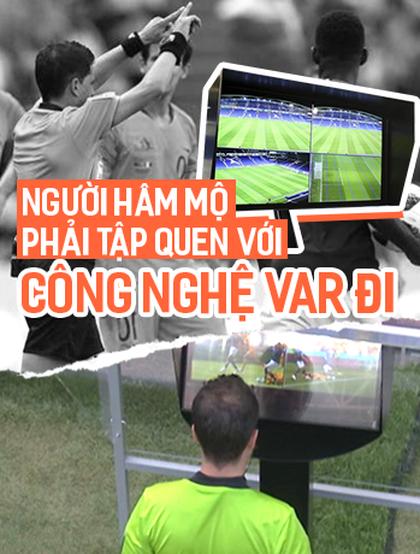 Người hâm mộ tập quen dần với công nghệ VAR đi, một cuộc cách mạng bóng đá mới đó!