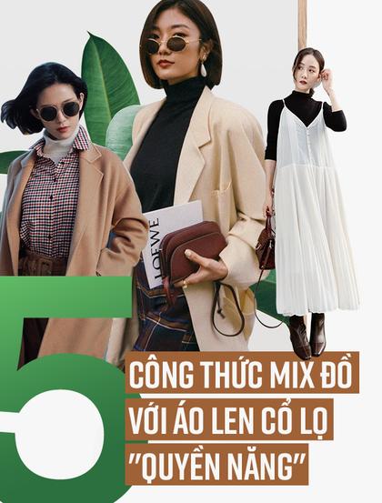 5 công thức mix đồ với áo len cổ lọ cực thời thượng trong ngày lạnh giá