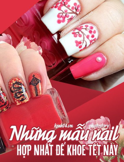 Những mẫu nail xinh bạn có thể thử trong dịp Tết này