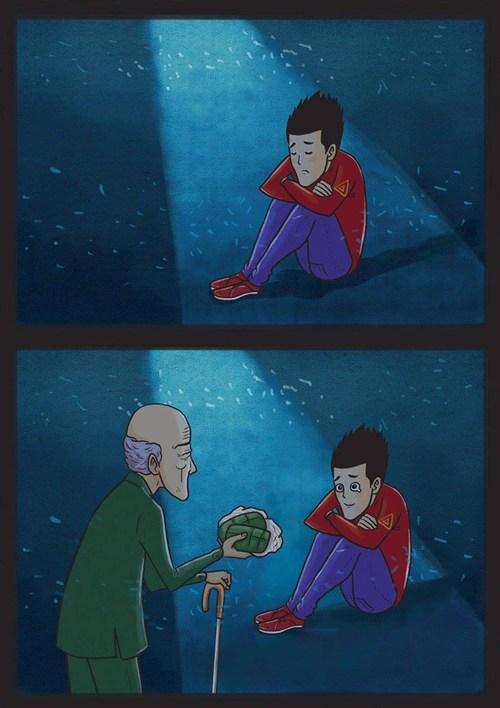 Bộ tranh: Ông lúc nào cũng ở bên và yêu thương chúng ta, đến tận những ngày cuối cùng... - Ảnh 13.
